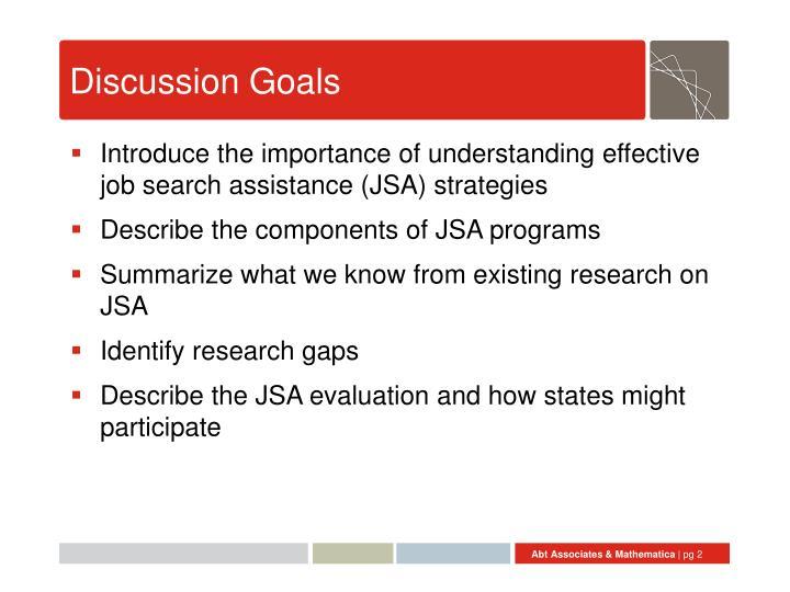 Discussion Goals