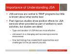 importance of understanding jsa