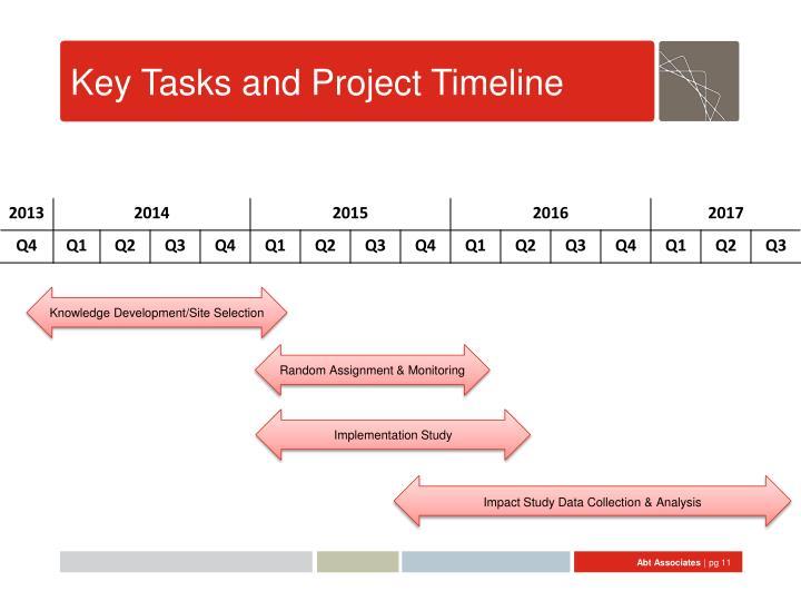 Key Tasks and Project Timeline