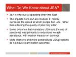 what do we know about jsa