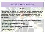 mission and core principles