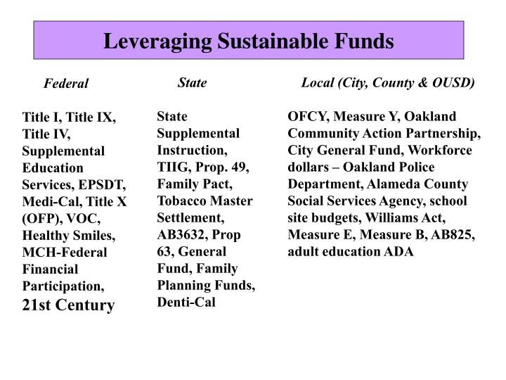 Leveraging Sustainable Funds