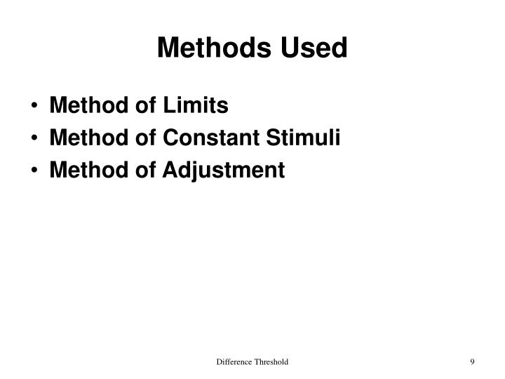 Methods Used
