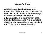 weber s law