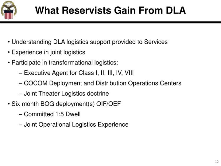 What Reservists Gain From DLA