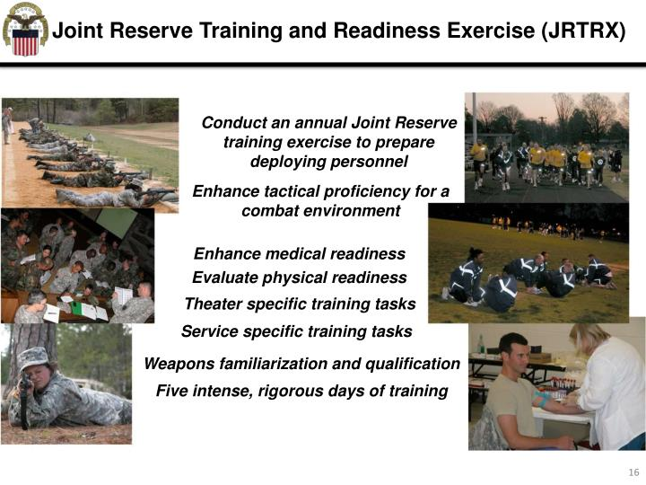 Joint Reserve Training and Readiness Exercise (JRTRX)
