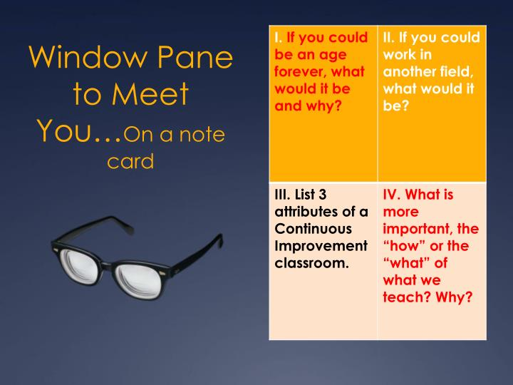 Window pane to meet you on a note card