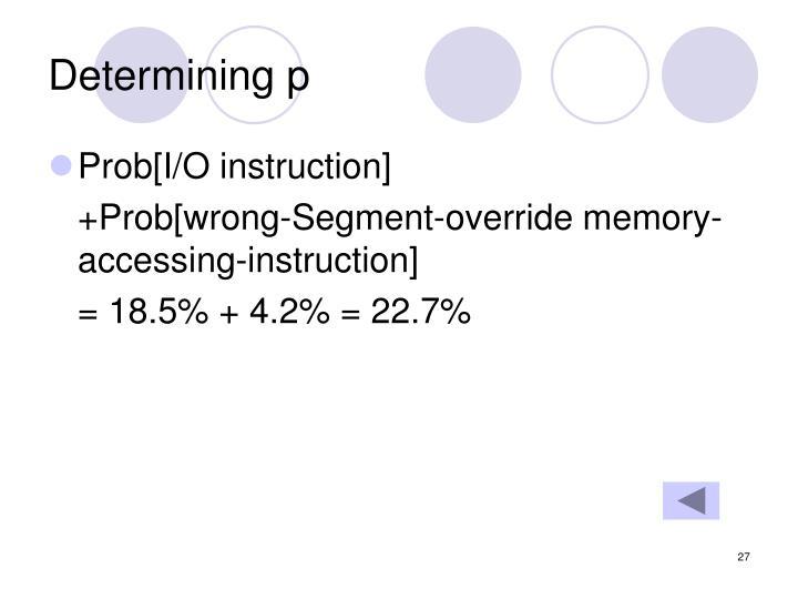 Determining p