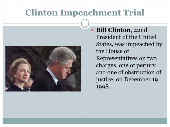 Clinton Impeachment Trial