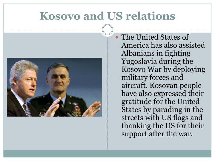 Kosovo and US relations