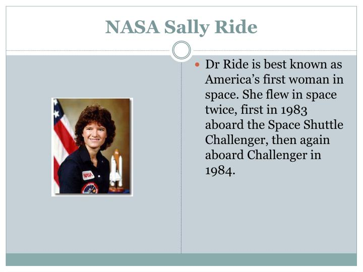NASA Sally Ride