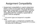 assignment compatibility