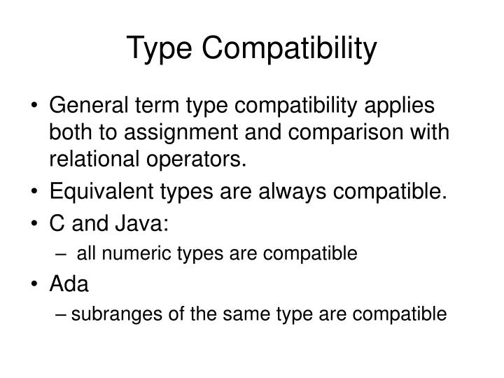 Type Compatibility