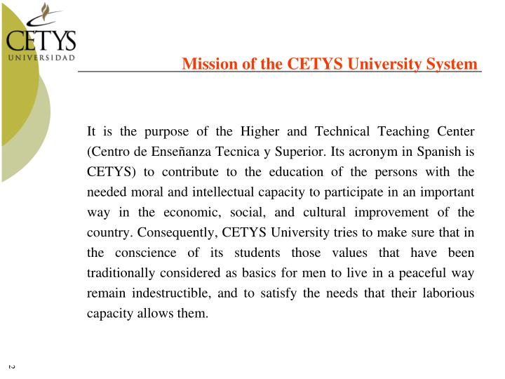 Mission of the CETYS University System