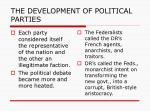 the development of political parties1