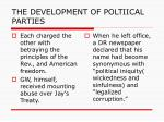 the development of poltiical parties1