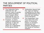 the devlopment of political parties