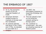 the embargo of 18071