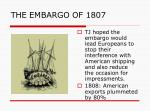 the embargo of 18072