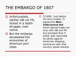 the embargo of 18073