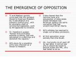 the emergence of opposition2