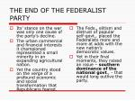 the end of the federalist party