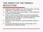 the impact of the french revolution1