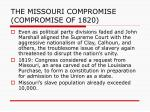 the missouri compromise compromise of 1820