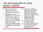 the nationalism of john quincy adams2