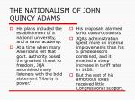 the nationalism of john quincy adams4