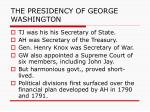 the presidency of george washington2