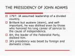 the presidency of john adams1