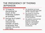 the presidency of thomas jefferson2