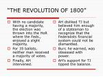 the revolution of 18004