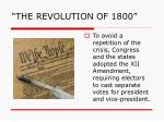 the revolution of 18005