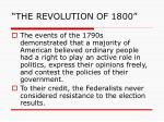 the revolution of 18006
