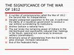the significance of the war of 1812