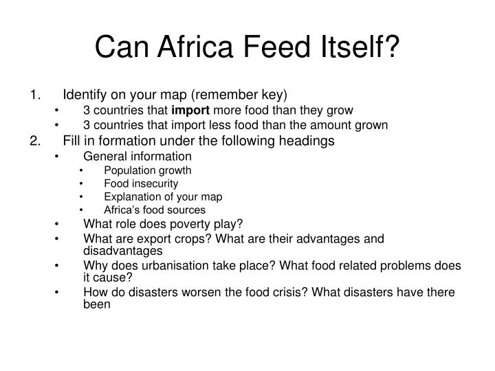 Can africa feed itself