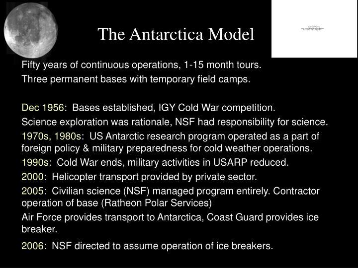 The Antarctica Model