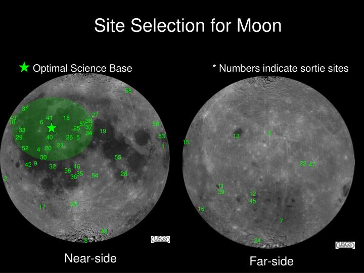Site Selection for Moon