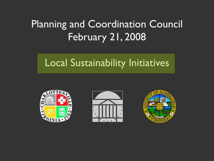 Planning and Coordination Council
