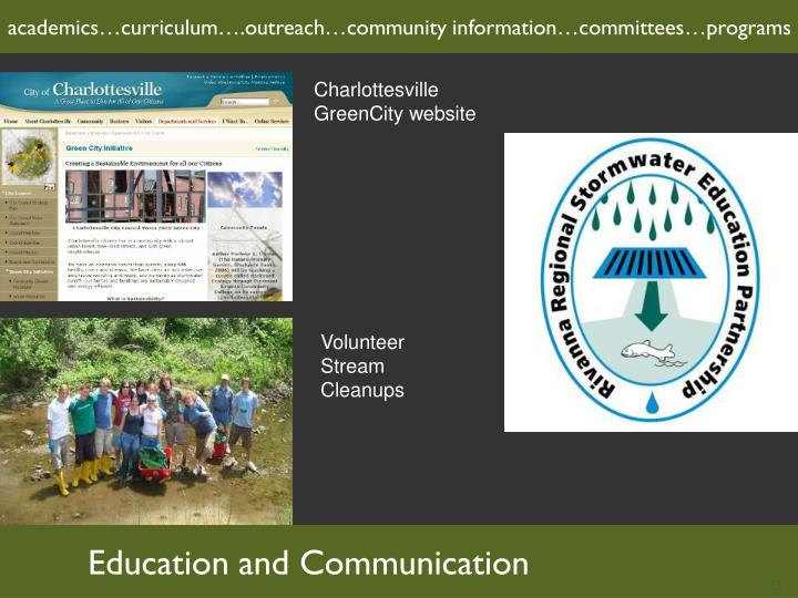 academics…curriculum….outreach…community information…committees…programs