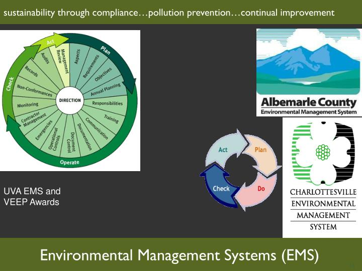 sustainability through compliance…pollution prevention…continual improvement