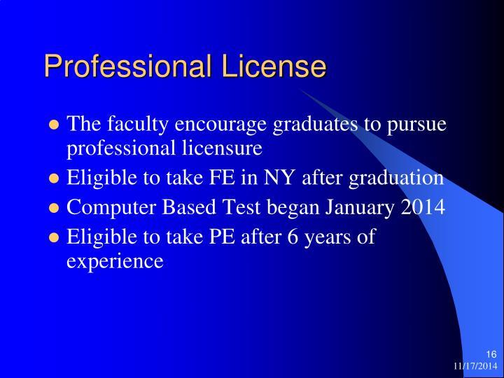 Professional License