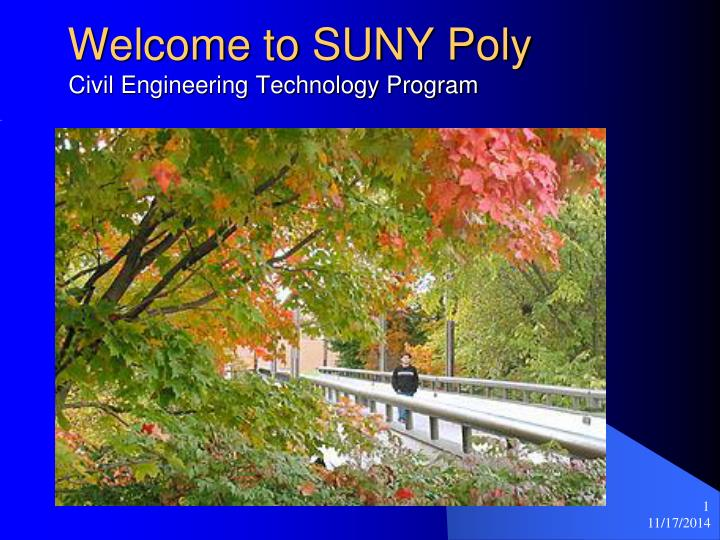 welcome to suny poly civil engineering technology program