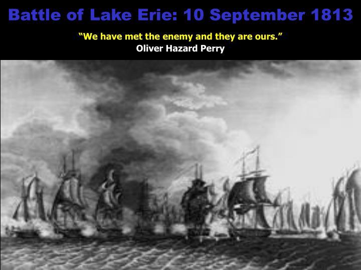 Battle of Lake Erie: 10 September 1813