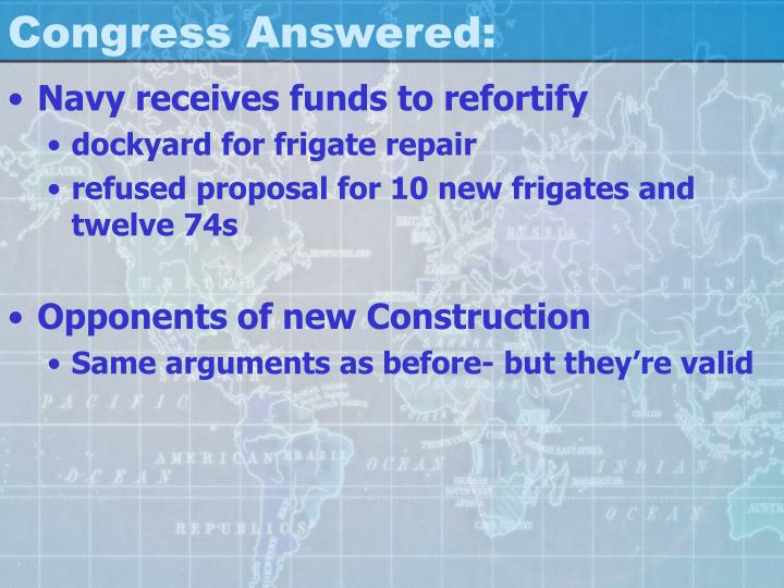 Congress Answered: