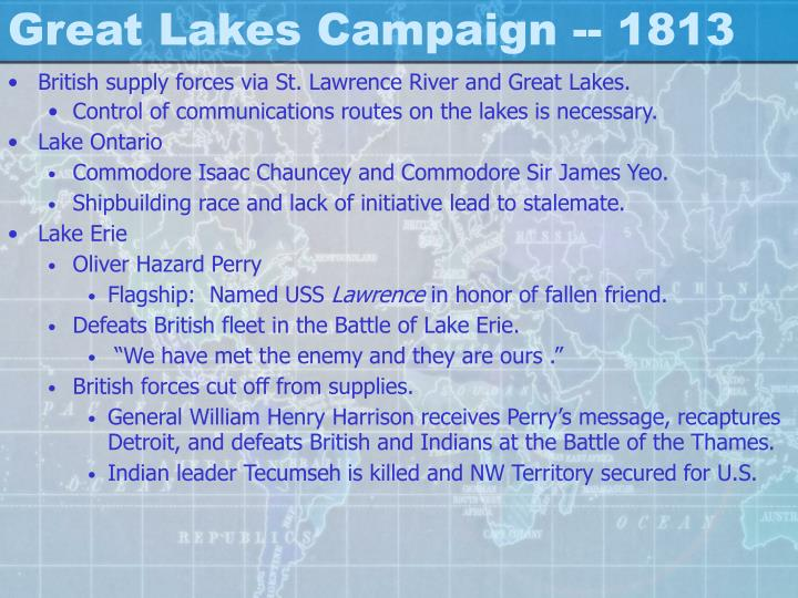 Great Lakes Campaign -- 1813