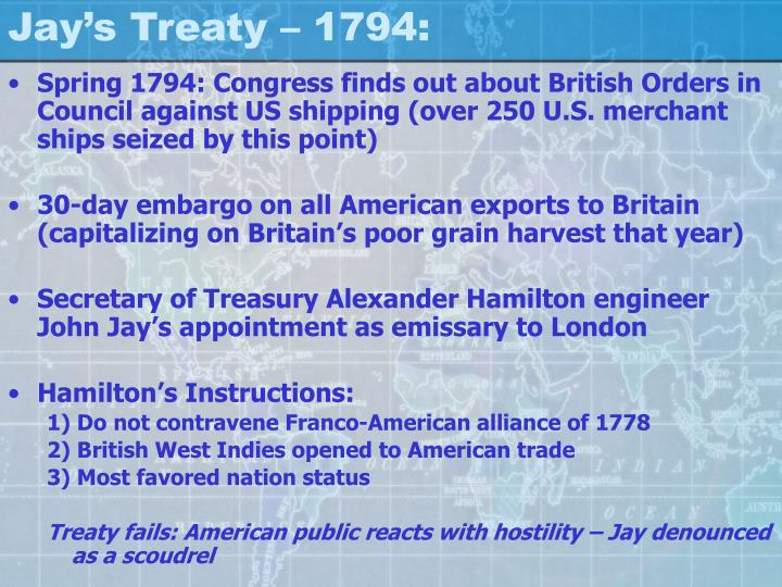 Jay's Treaty – 1794: