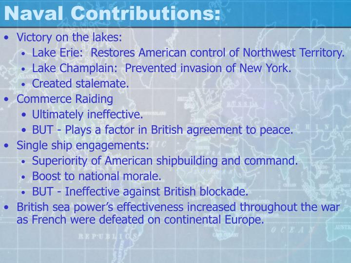 Naval Contributions: